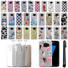 For Samsung Galaxy S7 G930 Slim Sparkling Silver TPU Silicone Case Cover + Pen