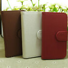 Fashion Litchi Skin Wallet Holder flip case cover for Huawei Cell Phone