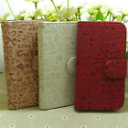 1x Cute Graffiti Printed Wallet Stander flip case cover for LG Mobile Phone