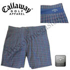 2017 Callaway Golf Mens golf Shorts - Ventilated Plaid Shorts - CGBS7064