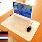 Extra Large Luxury Leather Desk Mat Laptop Pad Tan, Red, Black, Brown, White.