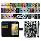 For ZTE Warp Elite Z9518 Ultra Slim Canvas Wallet Case Cover Credit Card + Pen