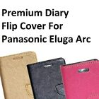 Diary Wallet Style Folio Flip Flap Cover Case For Panasonic Eluga Arc