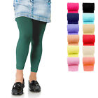 KIDS FASHION Girls Soft Microfibre FOOTLESS Tights 60 Denier Colours Years 4-13