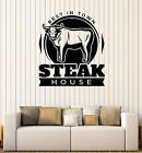 best meat for philly cheese steak sandwiches - Wall Decal Restaurant Signboard Best Meat Steak House Interior Decor z4849