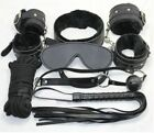 Bondage Set Kit Rope Ball Gag Cuffs Whip Collar Blindfold Adult Sexy Toy Game