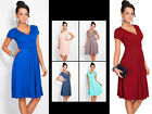 Women's Pleated Short Sleeveless Party Dress Evening Cocktail Casual Dress New -