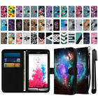 For LG G3 D850 LS990 VS985 D855 Ultra Slim Canvas Wallet Pouch Case Cover + Pen