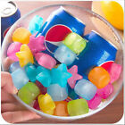 20Pcs Reusable Plastic Ice Cubes Star Multicolour Cool Cold Drinks Bar Barbecue