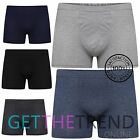 New Mens Boxer Shorts 6/12 Pack Plain Jersey Underwear Briefs Trunks Multi Pack