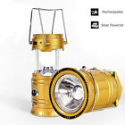 3-in-1 Rechargeable Solar Ultra Bright Led Camping Lantern Survival Outdoor Lamp