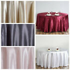 "6 pcs 120"" Round Satin Tablecloths for a Wedding Party Decorations Supplies SALE"