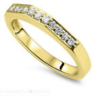 Solitaire With Accent 0.9 TCW Diamond Enhanced Ring Yellow Gold SI1/D Round $760.97 USD on eBay