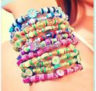 100 PCS Clay Beads DIY Slices Mixed Color Fimo Polymer Clay for Bracelet Making