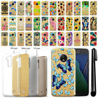 "For Motorola Moto G5 Plus 5.2"" Slim Sparkling Gold TPU Silicone Case Cover + Pen"