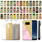 """For Samsung Galaxy S8 G950 5.8"""" Slim Sparkling Gold TPU Case Cover + Pen"""