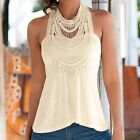 Women Summer Lace Vest Top Sleeveless Casual Tank Blouse Ladies Tops T-Shirt New