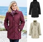Plus size 26-36 UK Lightweight ladies womans winter flattering quilted coat