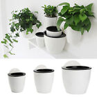 Creative Self-watering Plant Flower Pot Wall Hanging Plastic Planter Home Garden