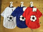 Football Tshirts Bright And Soft 4 Sizes Small Dog Puppy Cat