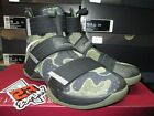 SALE NIKE LEBRON SOLDIER 10 SFG X BLACK BAMBOO MEDIUM OLIVE GREEN CAMO 844378 02