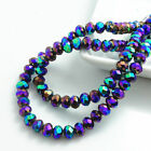 Wholesale Rondelle Faceted Crystal Glass Loose Spacer Beads Diy 3/4/6/8/10mm #2