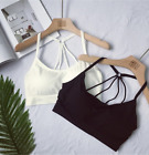 Great! Free Size Full Cup Womens Vest Type Wire Free Padded Sports Bra Underwear