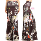 Splash Black Fashion Sublimation high waist fold over maxi long skirt (S/M/L/XL)