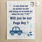 Will you be our Ring Bearer Jigsaw Gift Puzzle Wedding Asking Invitation FA20