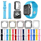 Replacement Silicone Band Strap OR Case Screen Protector For Apple Watch 38/42mm