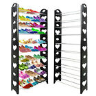 10 Tier Shoe Rack Storage Stand Organiser Cabinet Shelf 30 Pairs Shoes Stackable