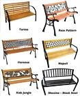Garden Patio Bench Seat Outdoor Seating Decorative Cast Iron Metal Park Seat New