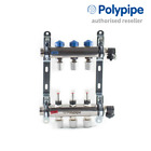 Polypipe 15mm Stainless Steel Underfloor Manifold Push-fit - 2 to 12 Port