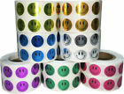 Smiley Face Circle Dot Stickers, 1/2 Inch Round, 1000 per Roll, 14 Color Choices
