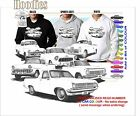 50-66 HOLDEN UTES HOODIE ILLUSTRATED CLASSIC RETRO MUSCLE SPORTS CAR