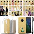 "For Motorola Moto G5 Plus 5.2"" Sparkling Gold TPU Case Cover Protective + Pen"