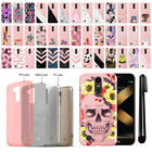 For LG K20 Plus LV5 M250 Slim Sparkling Light Pink TPU Silicone Case Cover + Pen
