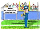 PERSONALIZED CUSTOM CARTOON PRINT - BAND: TRUMPET - GREAT GIFT IDEA! FREE S/H