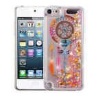 iPod Touch 5th/6th Cute Clear Sparkle Stars Liquid Quicksand Glitter Case Cover <br/> Premium Tempered Glass for Full Body Impact Protection