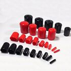 Multiple Sizes Pack Of 100 PVC Rubber Screw Cylinder Cap Sheath Protect Casing
