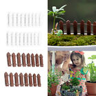 10Pcs Miniature Fairy Garden Kit Wood Fence Doll House DIY Accessories Decor Hot