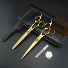 7 inch Professional Hairdressing Scissors Barbers Cutting Thinning Shears sets