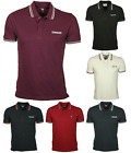 MENS LAMBRETTA POLO TOPS TSHIRT IN 6 COLOURS BLACK NAVY WHITE ALL SIZES S TO 4XL