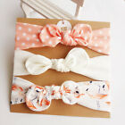 3pcs/Set Baby Girl Headband Ribbon Elastic Headdress Kids Hair Band Newborn Bow  <br/> ✅Buy 3 GET 1 FREE✅ADD 4 to BASKET✅ 35 Design✅UK SHIP✅