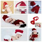 Newborn baby Boys Girls Hat Set Kids Christmas Clothes Shoes Outfits Photography