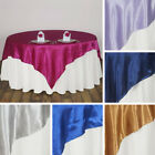 "15 SATIN SQUARE 90x90"" TABLE OVERLAYS Wedding Party Prom Catering Decorations"