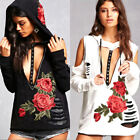 Fashion Women Ladies Long Sleeve Embroider Blouse Casual Pullover Tops T-Shirt