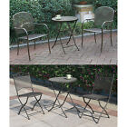 Outdoor Metal Mesh Top Iron Frame Table Chair