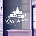 Merry Christmas Xmas Tree Snow Flakes Display Window Wall Decals Stickers A412
