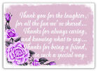 Thank You For The Laughter V2 | Metal Wall Sign Plaque Art | Love Friends Family